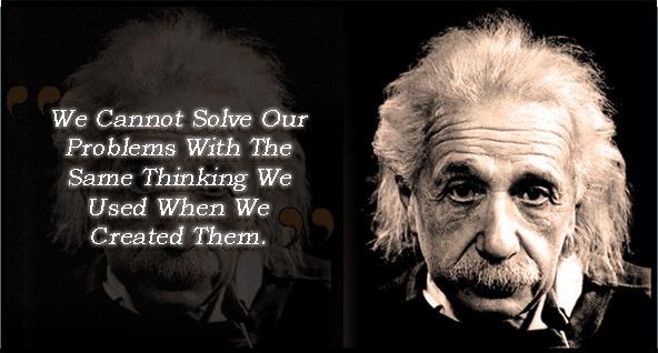 Einstein Solving Problems Quotation